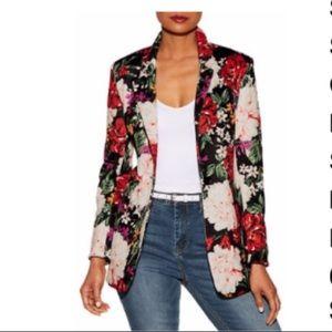 Floral Scuba Blazer - NEW! Sz 8